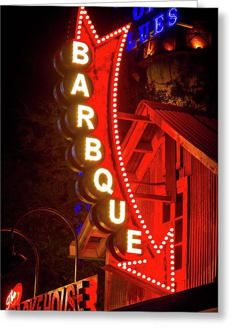 Greeting Card featuring the photograph Barbeque Smokehouse by Mark Andrew Thomas