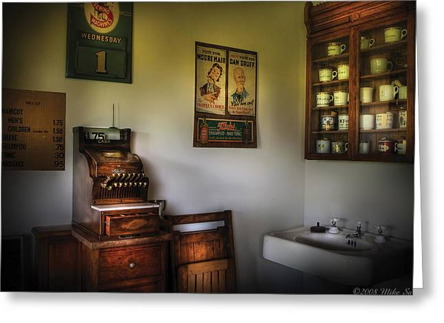 Barber - The Cash Register  Greeting Card by Mike Savad