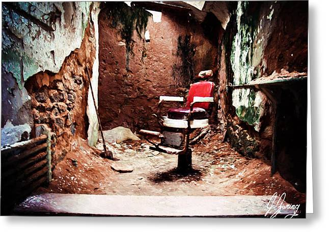 Barber Chair Of Eastern State Penn Greeting Card