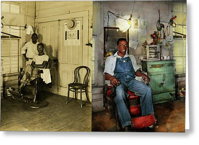 Barber - Family Owned 1942 - Side By Side Greeting Card