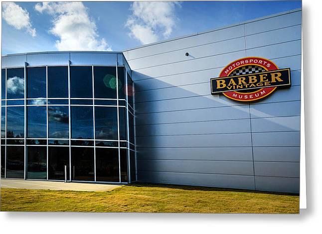 Barber Motorsports Museum Sign In Birmingham Alabama Greeting Card by Michael Thomas
