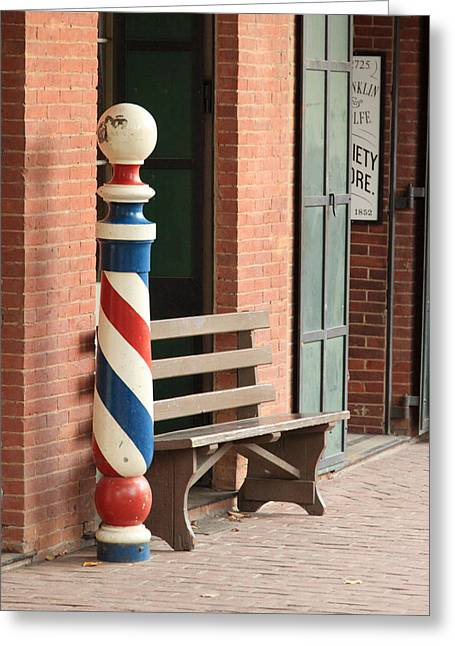 Barber Pole Columbia Ca Greeting Card by Troy Montemayor