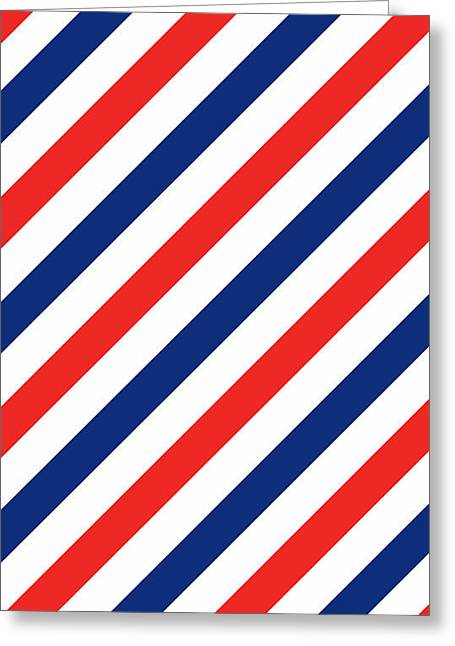 Barber Stripes Greeting Card by Julia Jasiczak