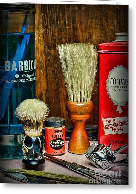 Barber - Vintage Barbering Tools Greeting Card