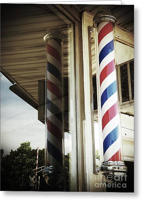 Barbershop Pole Greeting Card