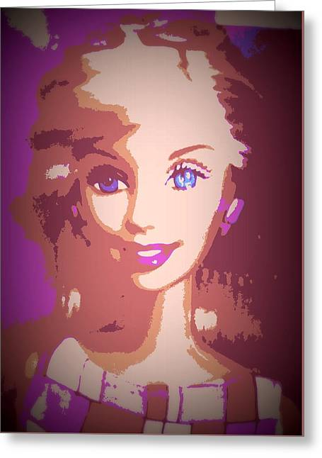 Barbie Hip To Be Square Greeting Card
