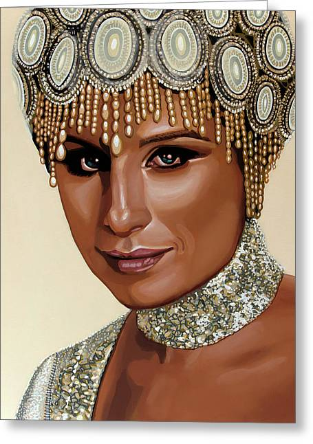 Barbra Streisand 2 Greeting Card by Paul Meijering