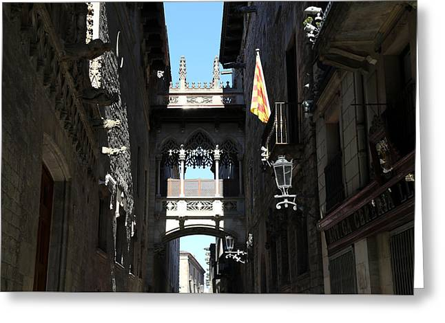 Greeting Card featuring the photograph Barcelona 1 by Andrew Fare