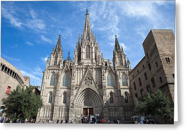 Barcelona Cathedral In Spain Greeting Card