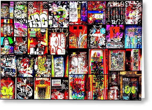 Barcelona Doors  Greeting Card by Funkpix Photo Hunter