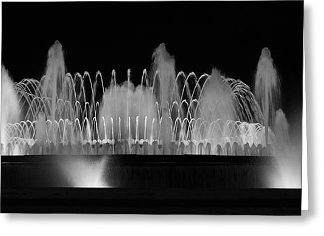 Barcelona Fountain Nightlights Greeting Card