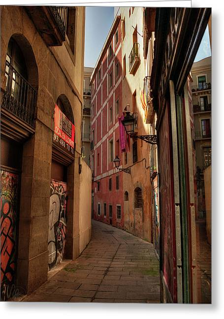 Greeting Card featuring the photograph Barcelona - Gothic Quarter 003 by Lance Vaughn