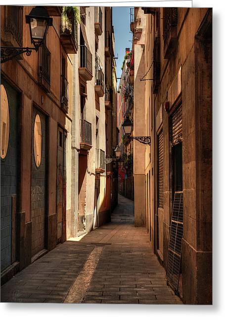 Greeting Card featuring the photograph Barcelona - Gothic Quarter 004 by Lance Vaughn