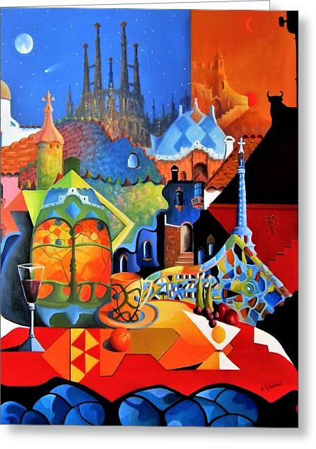 Barcelona Nights Greeting Card