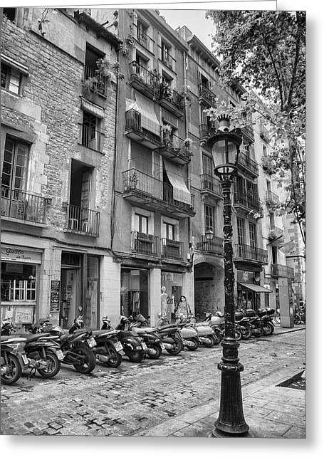 Barcelona Scooters Greeting Card