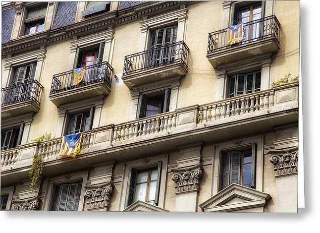 Barcelona Windows Greeting Card