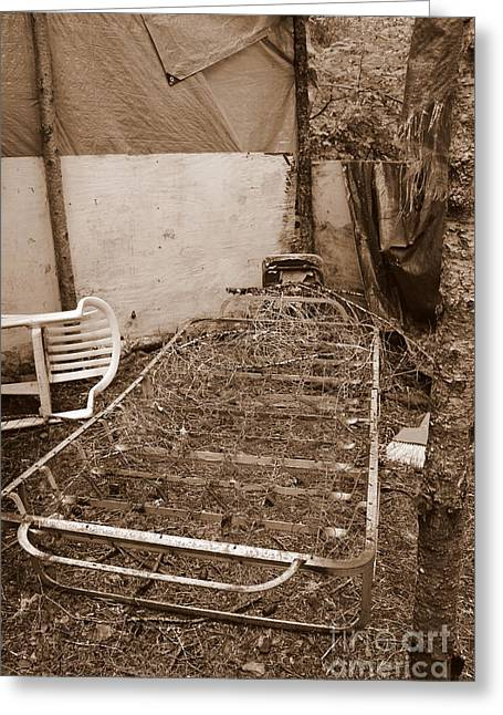 Greeting Card featuring the photograph Bare Bones Miners Camp by Marie Neder