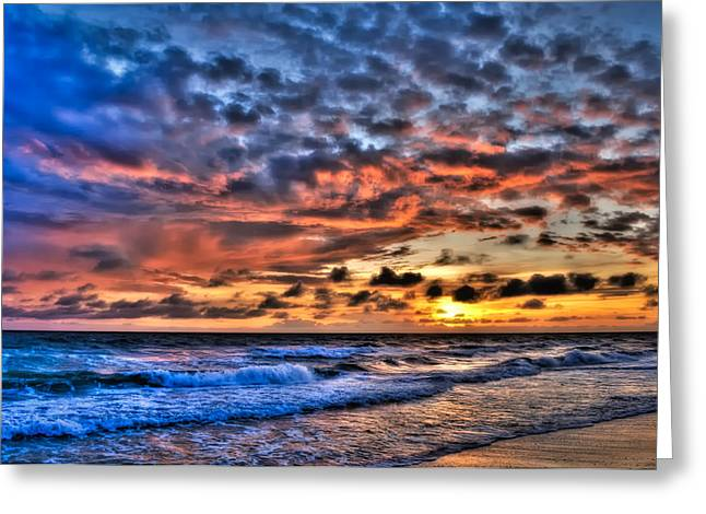 Barefoot Beach Sunset Greeting Card by Rich Leighton