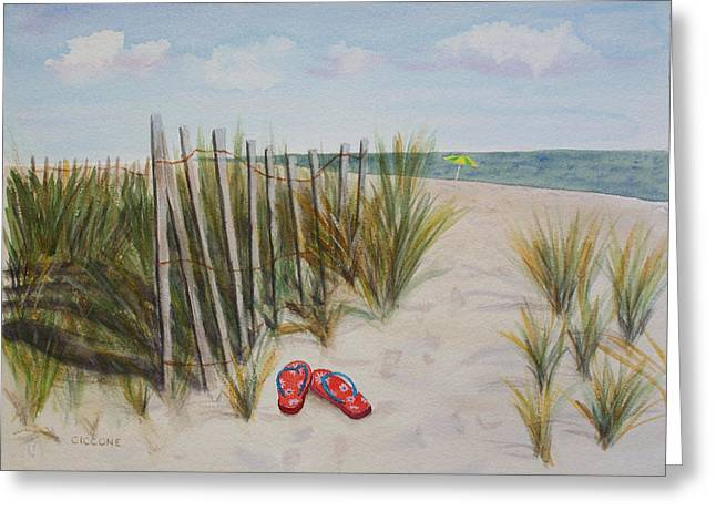 Barefoot On The Beach Greeting Card