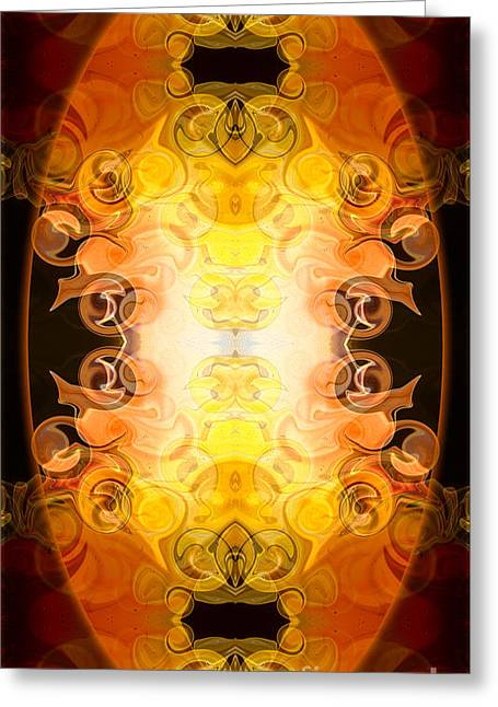 Barely Contained Excitement Abstract Organic Bliss Art By Omaste Greeting Card by Omaste Witkowski