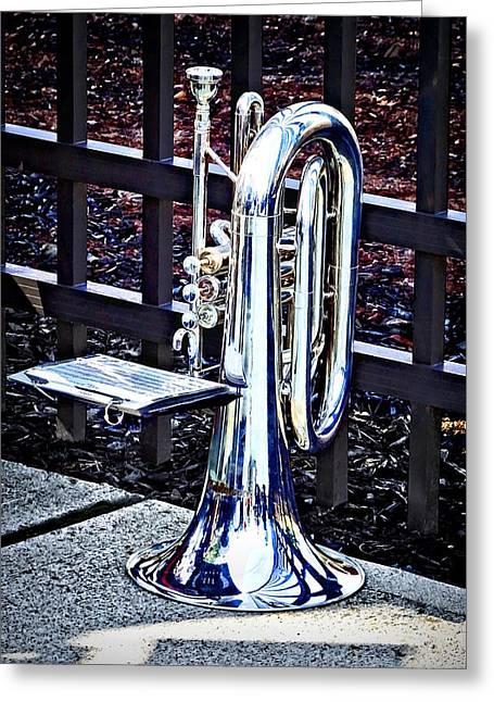 Baritone Horn Before Parade Greeting Card