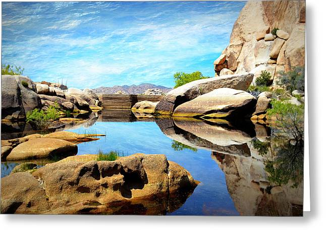 Greeting Card featuring the photograph Barker Dam - Joshua Tree National Park by Glenn McCarthy Art and Photography