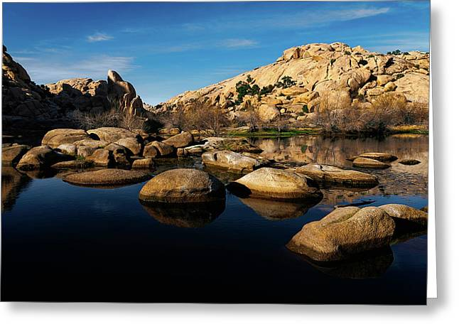 Greeting Card featuring the photograph Barker Dam Lake by John Hight