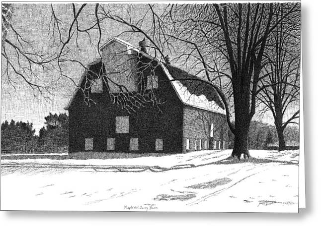 Barn 24 Maplenol Barn Greeting Card by Joel Lueck