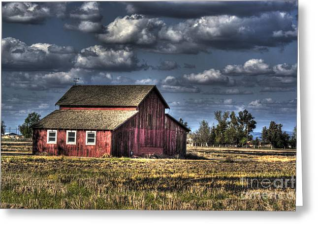 Barn After Storm Greeting Card by Jim and Emily Bush