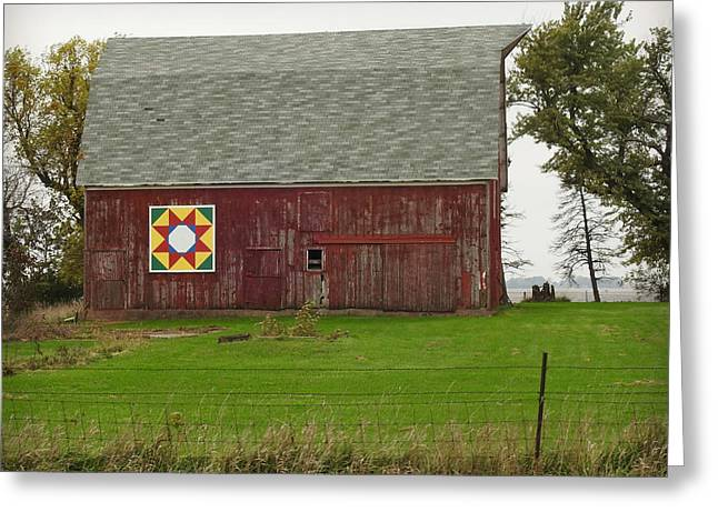 Barn And Barn Quilt Greeting Card