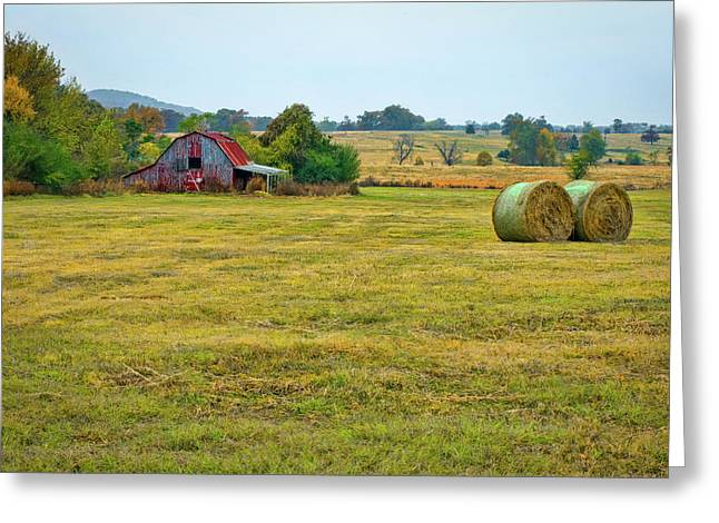 Barn And Field Greeting Card
