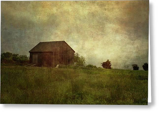 Barn And Meadow Greeting Card