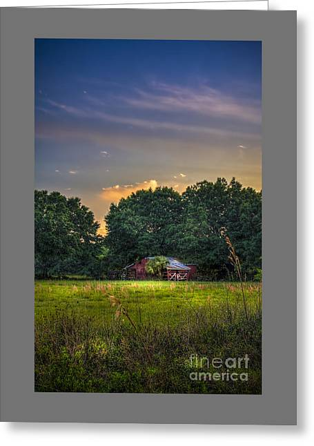Barn And Palmetto Greeting Card by Marvin Spates