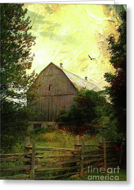 Barn And Silence Greeting Card by Anthony Djordjevic