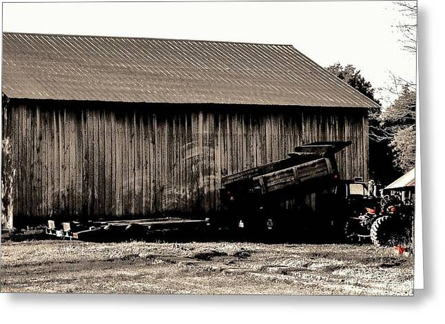 Barn And Truck Greeting Card