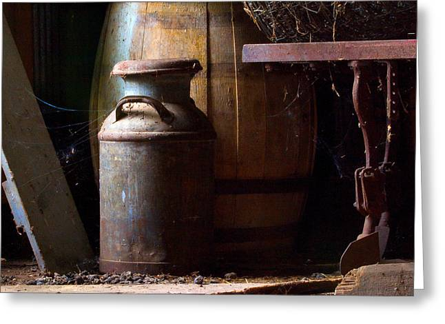 Water Jug Greeting Cards - Barn Art Greeting Card by Jim Finch