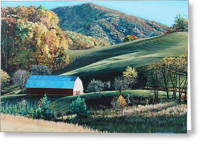 Barn At Blowing Rock Greeting Card