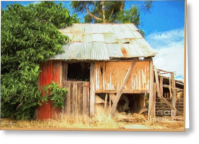 Barn At Hamilton Greeting Card