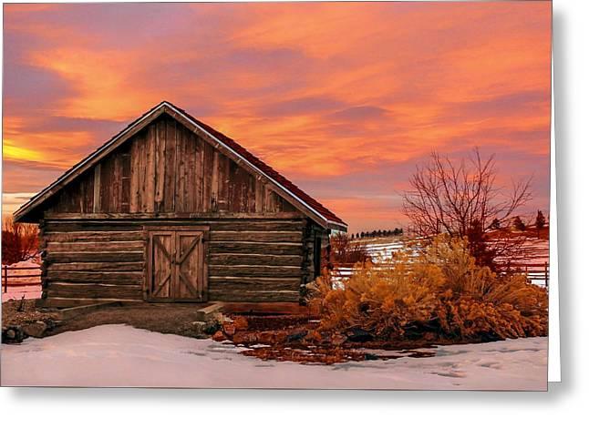 Barn At Hidden Mesa Greeting Card