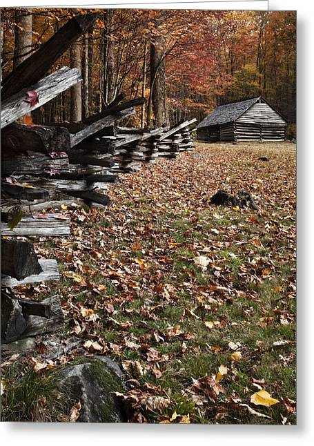 Barn At Jim Bales Place Greeting Card by Andrew Soundarajan