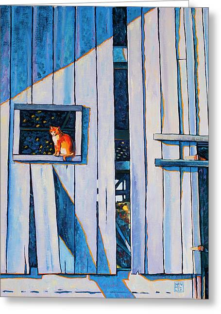 Barn Cat Greeting Card by Stacey Neumiller