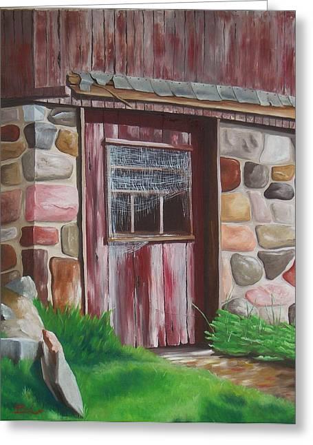 Barn Door In Memphis Greeting Card by Barbara Auito
