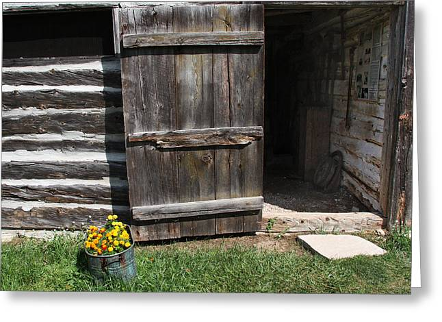 Greeting Card featuring the photograph Barn Door by Joanne Coyle