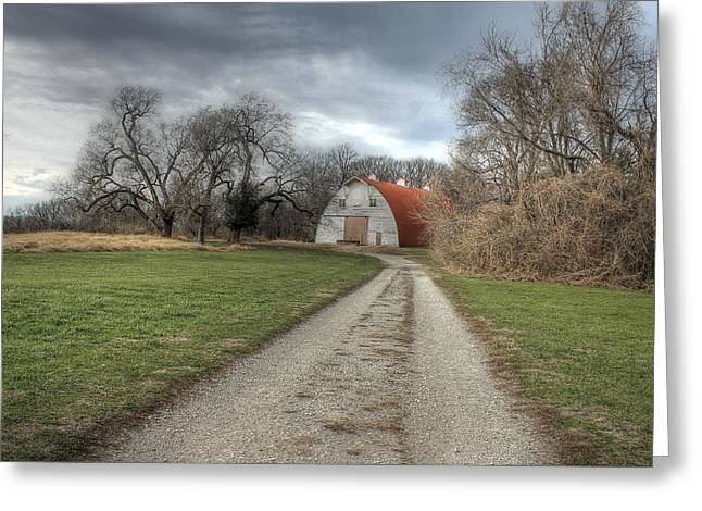 Barn Faust Park Missouri Greeting Card by Jane Linders