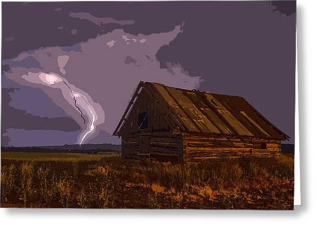 Barn - Id 16235-142741-6670 Greeting Card by S Lurk