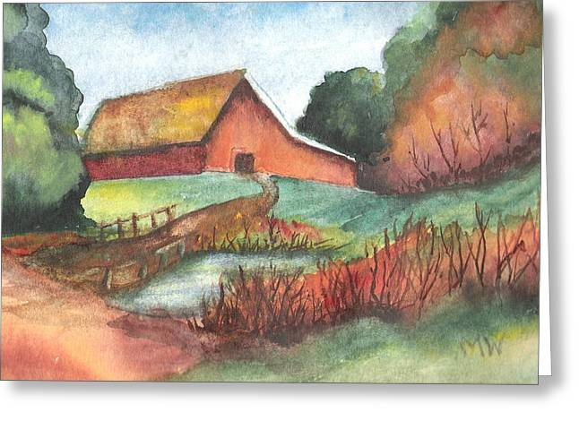 Barn In Autumn Greeting Card