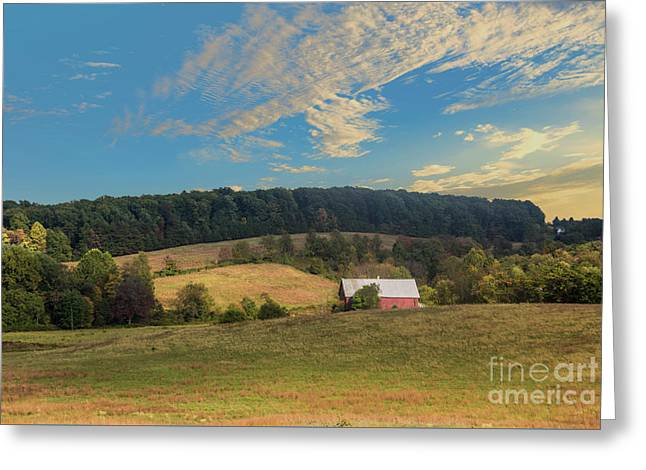 Barn In Field Greeting Card