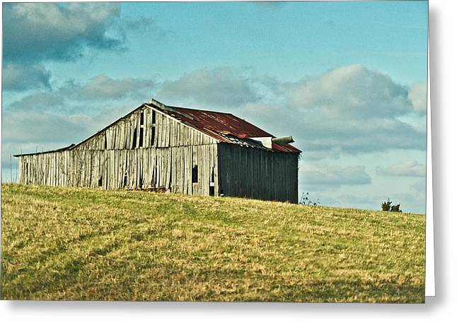 Barn In Ill Repir Greeting Card by Douglas Barnett