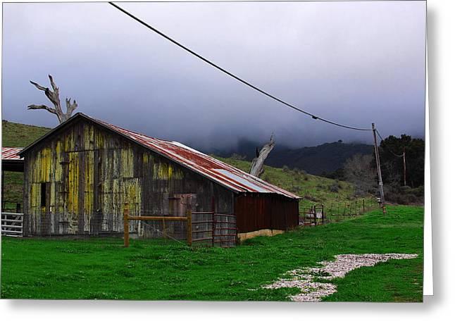 Barn In Rain Greeting Card by Viktor Savchenko