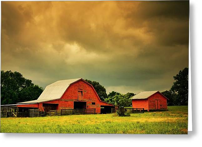 Barn In The Usa, South Carolina Greeting Card